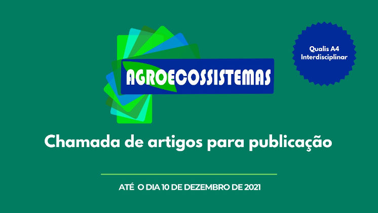 Chamada de artigos para publicação na Revista Agroecossistemas